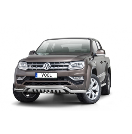 VW Amarok 2017- Lowbar EU frontbåge med hasplåt
